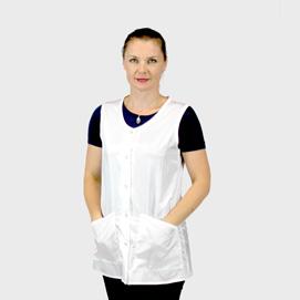 La Mode Estheticians Vest White