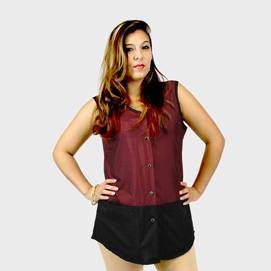 Limited Edition Vest Black/Burgundy
