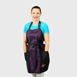 Limited Edition Princess Apron Black/Plum