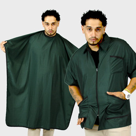 Barber Jacket Supreme & Cape Green
